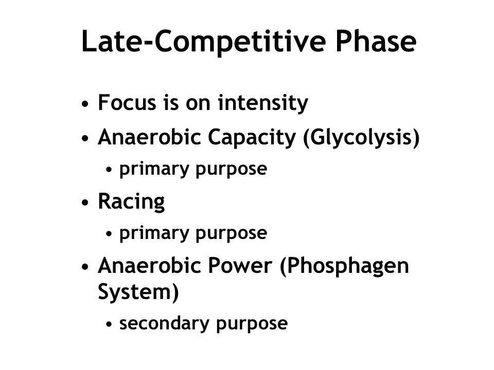 Late-Competitive Phase