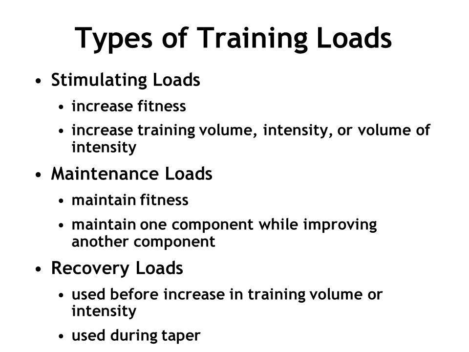 Types of Training Loads