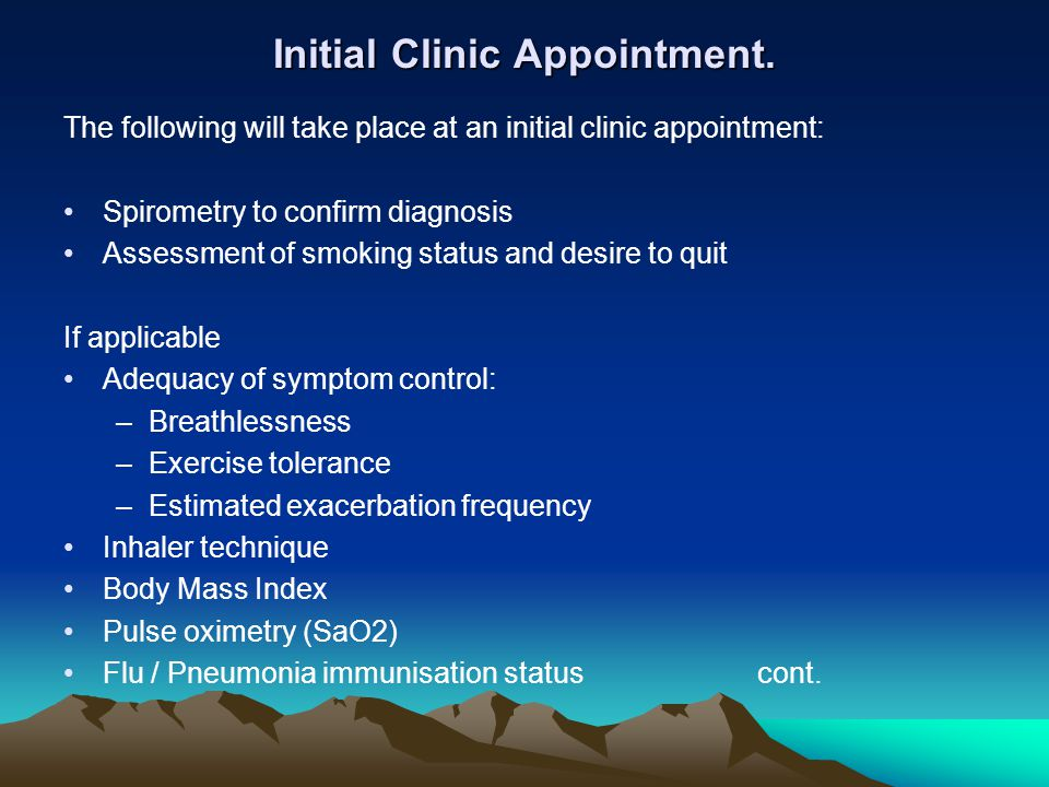 Initial Clinic Appointment.