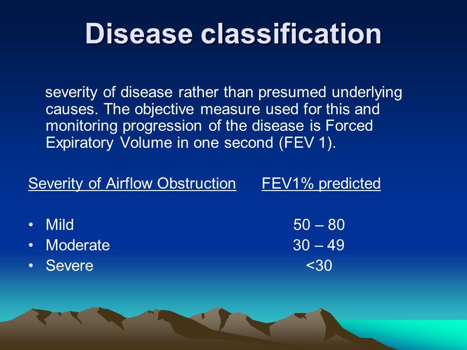 Disease classification