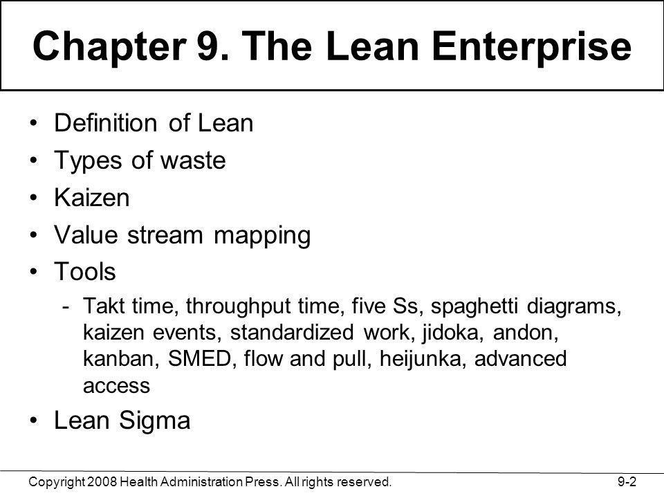 Chapter 9. The Lean Enterprise