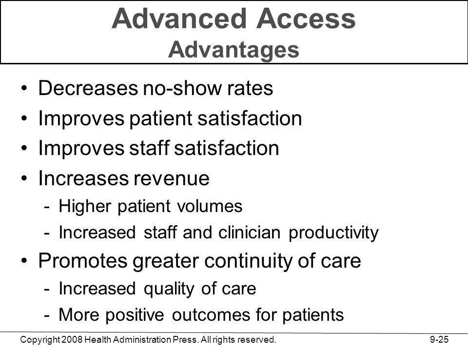 Advanced Access Advantages
