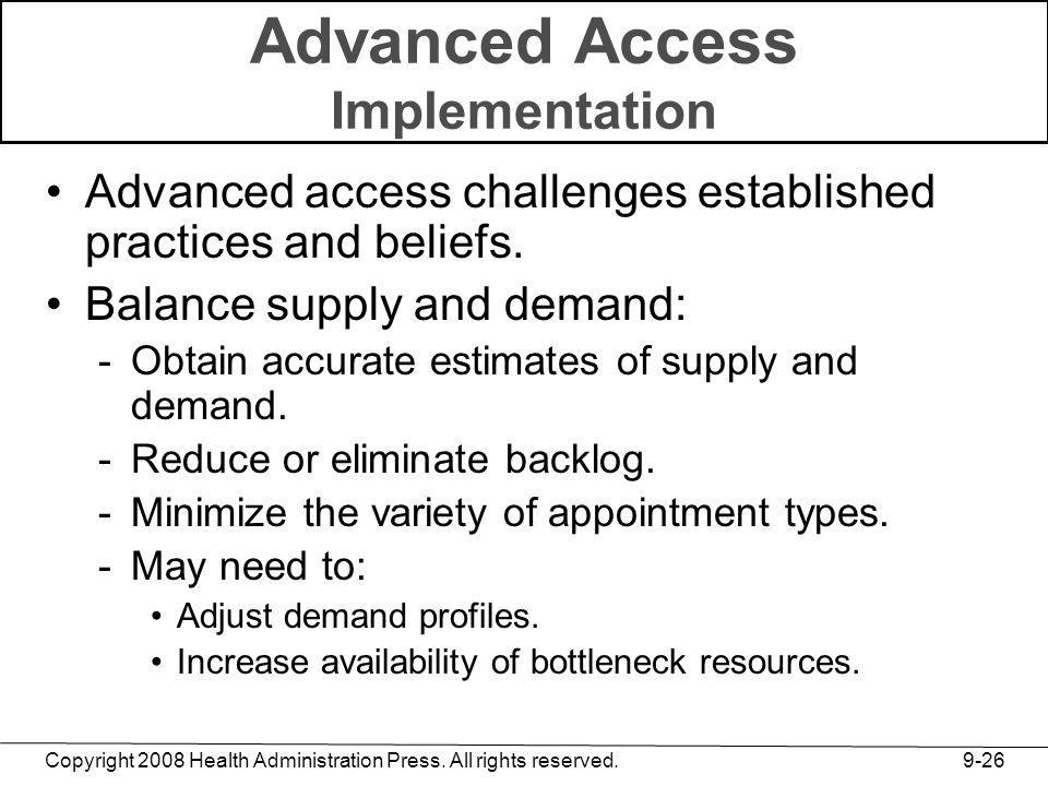 Advanced Access Implementation