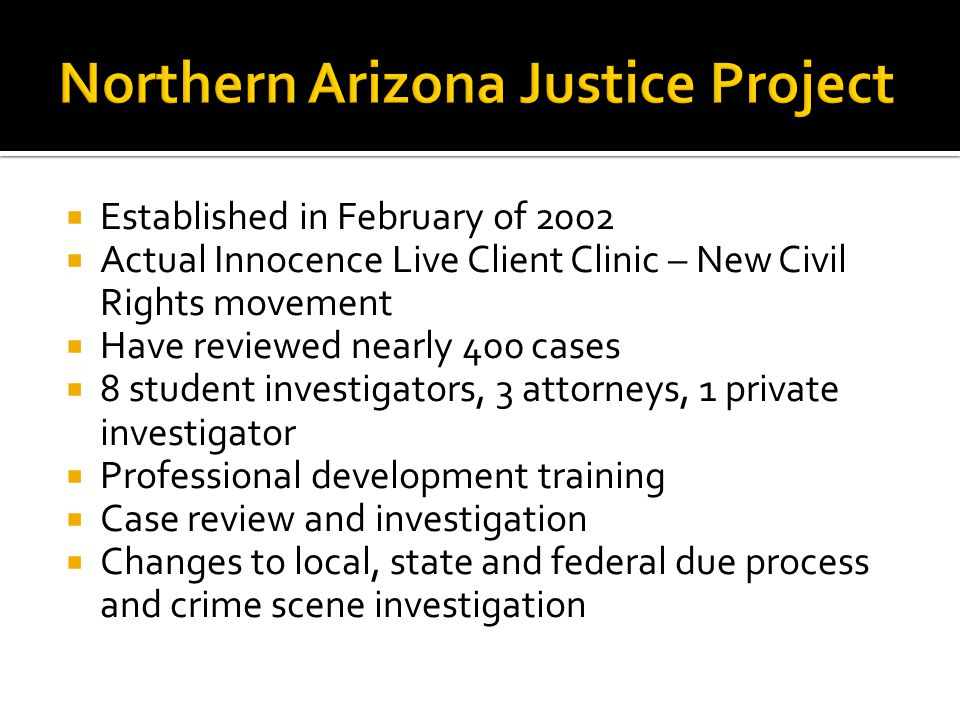 Northern Arizona Justice Project
