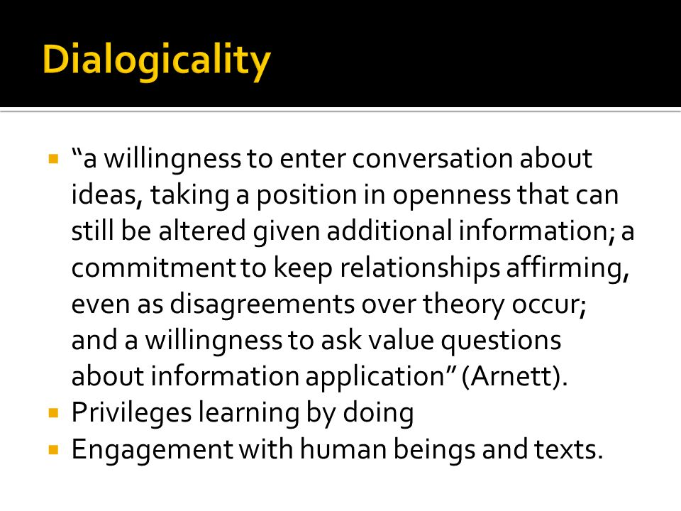 Dialogicality