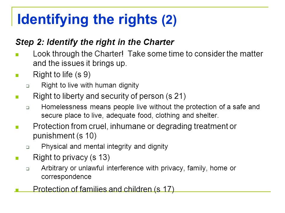 Identifying the rights (2)