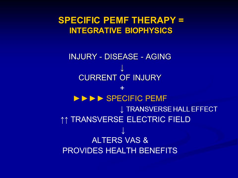 SPECIFIC PEMF THERAPY = INTEGRATIVE BIOPHYSICS