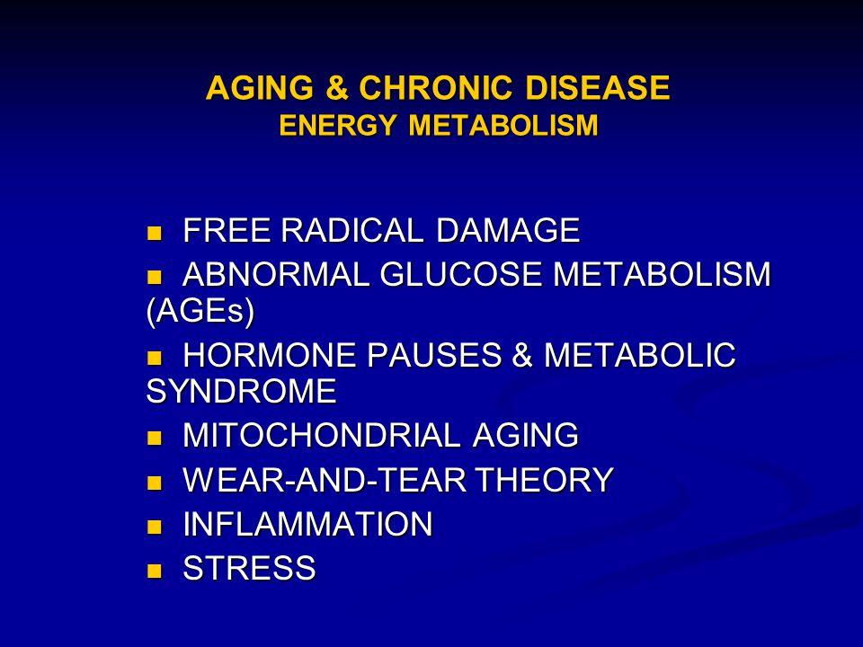 AGING & CHRONIC DISEASE ENERGY METABOLISM