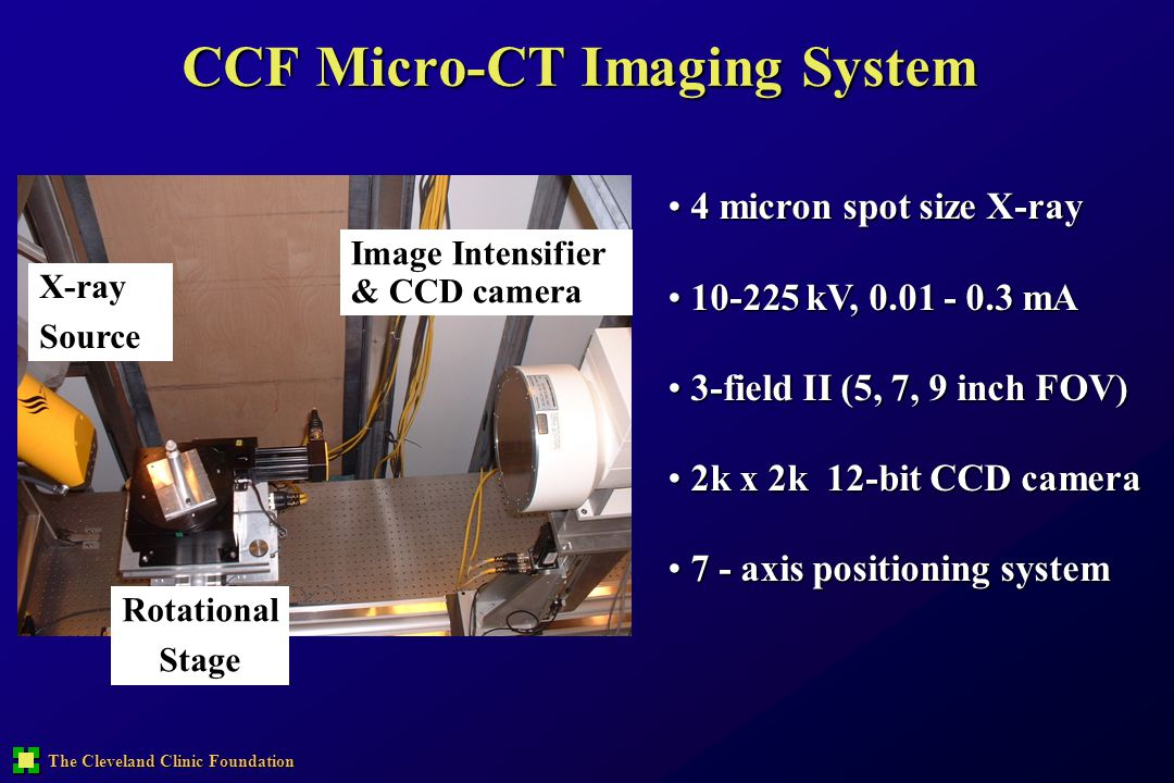 CCF Micro-CT Imaging System