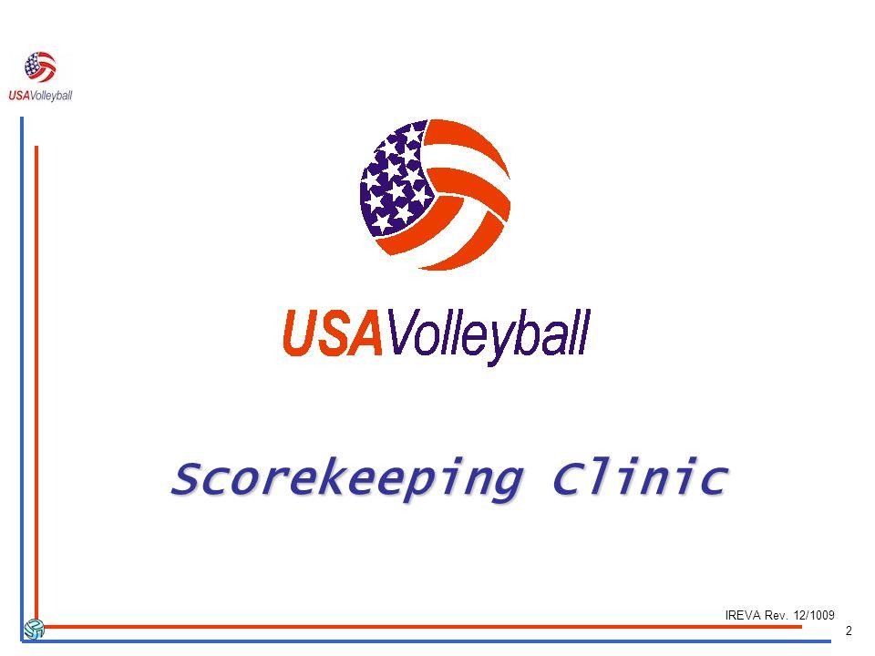 Scorekeeping Clinic IREVA Rev. 12/1009