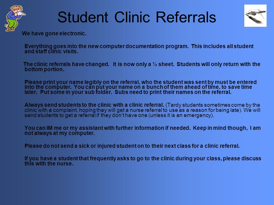 Student Clinic Referrals