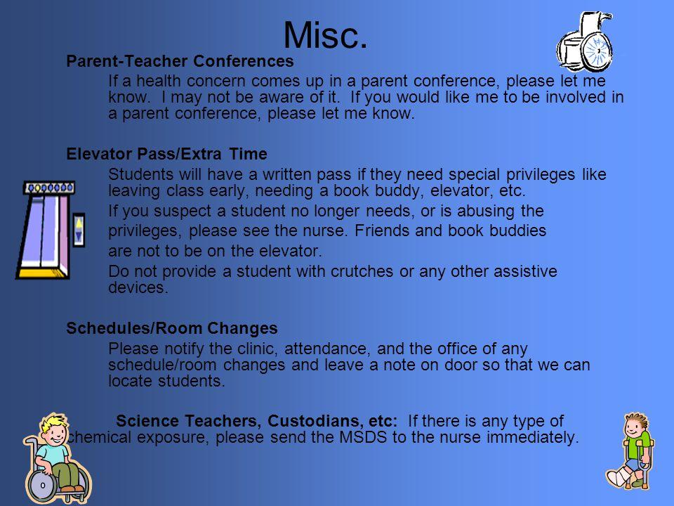 Misc. Parent-Teacher Conferences