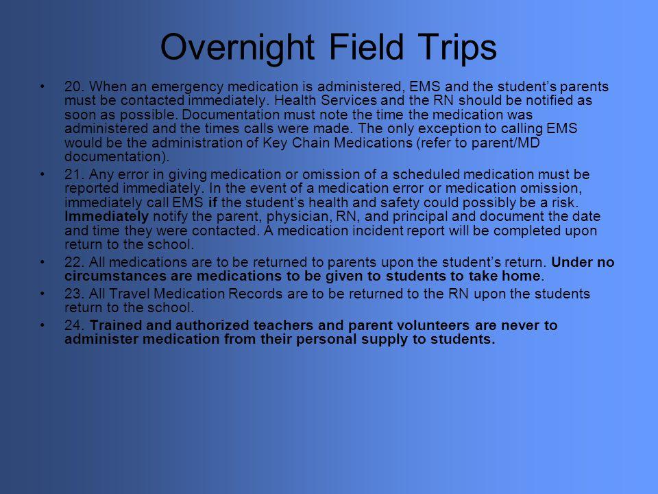 Overnight Field Trips
