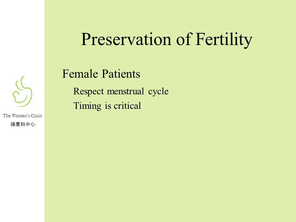 Preservation of Fertility