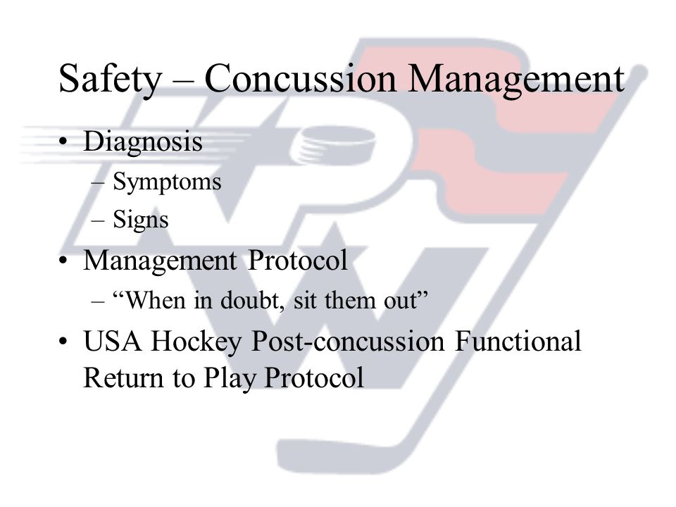 Safety – Concussion Management