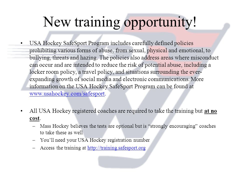 New training opportunity!