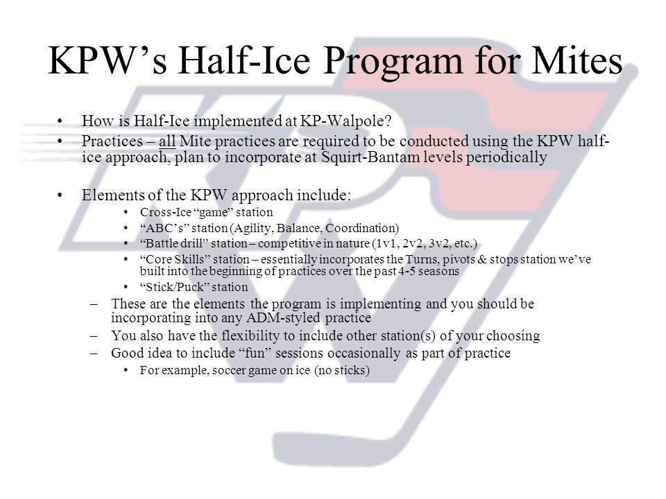 KPW's Half-Ice Program for Mites