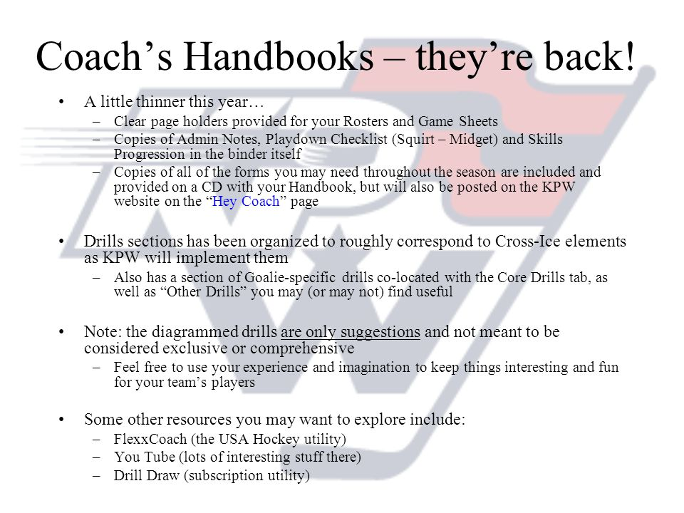Coach's Handbooks – they're back!