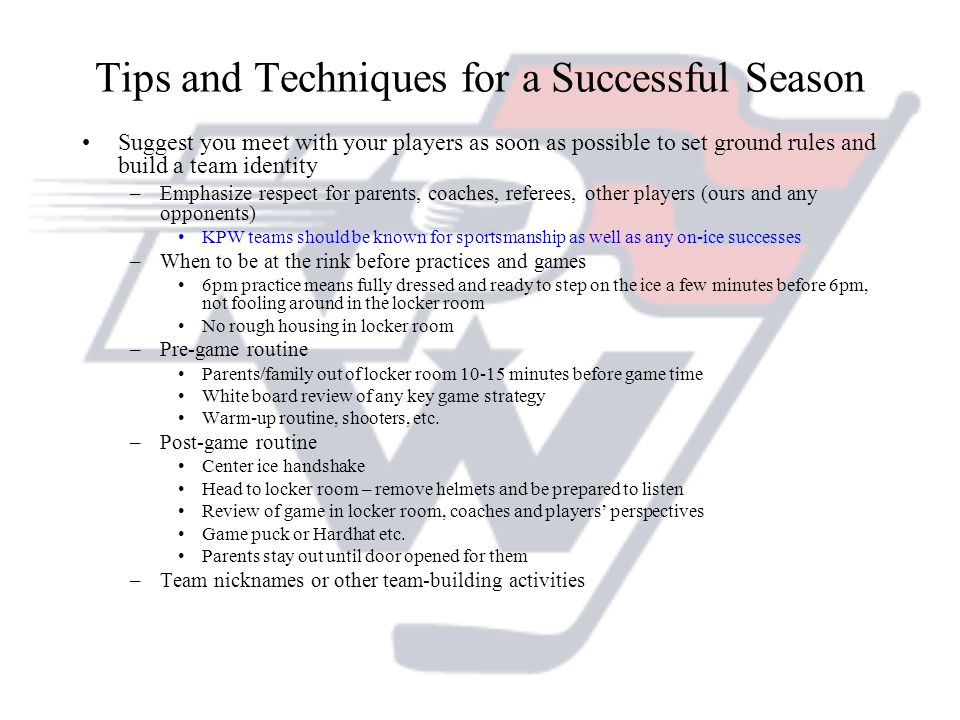 Tips and Techniques for a Successful Season