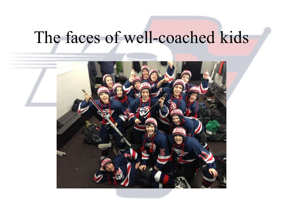 The faces of well-coached kids