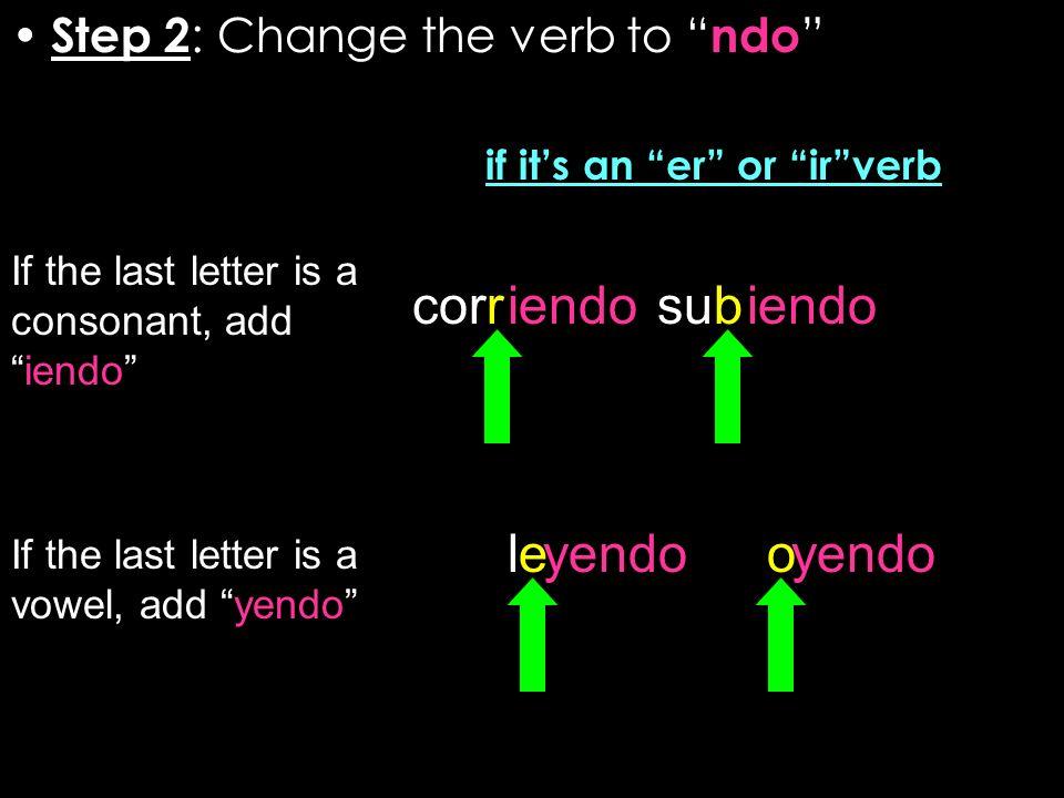 if it's an er or ir verb