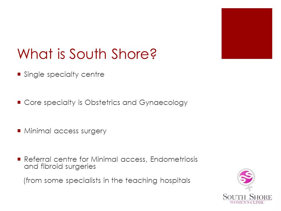 What is South Shore Single specialty centre