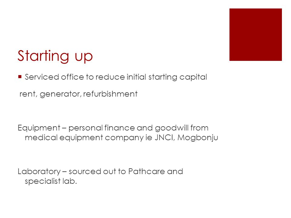 Starting up Serviced office to reduce initial starting capital