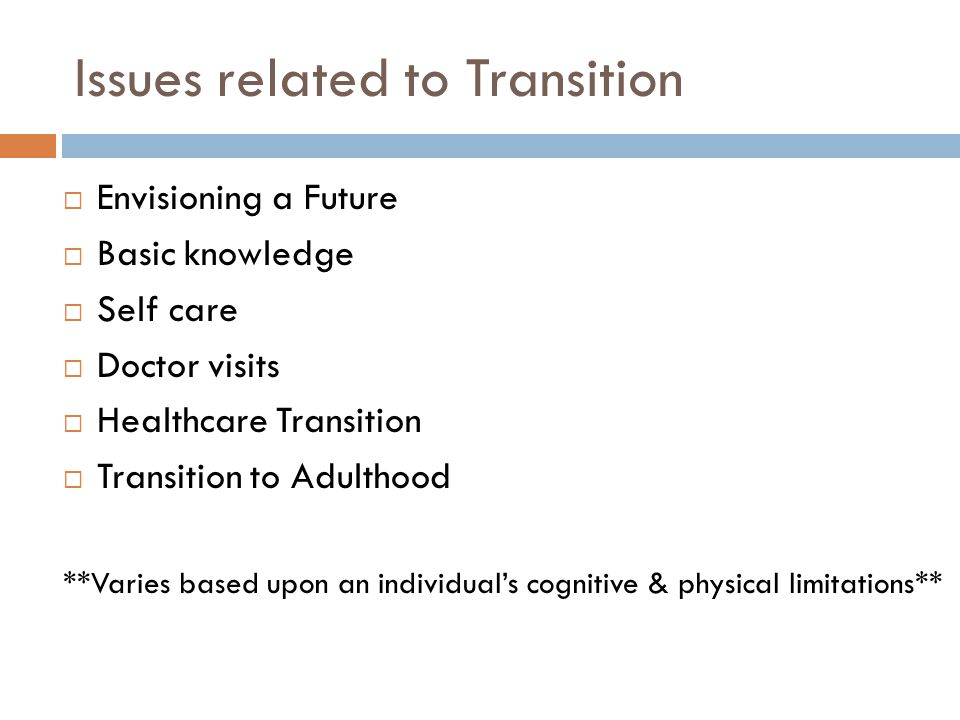 Issues related to Transition