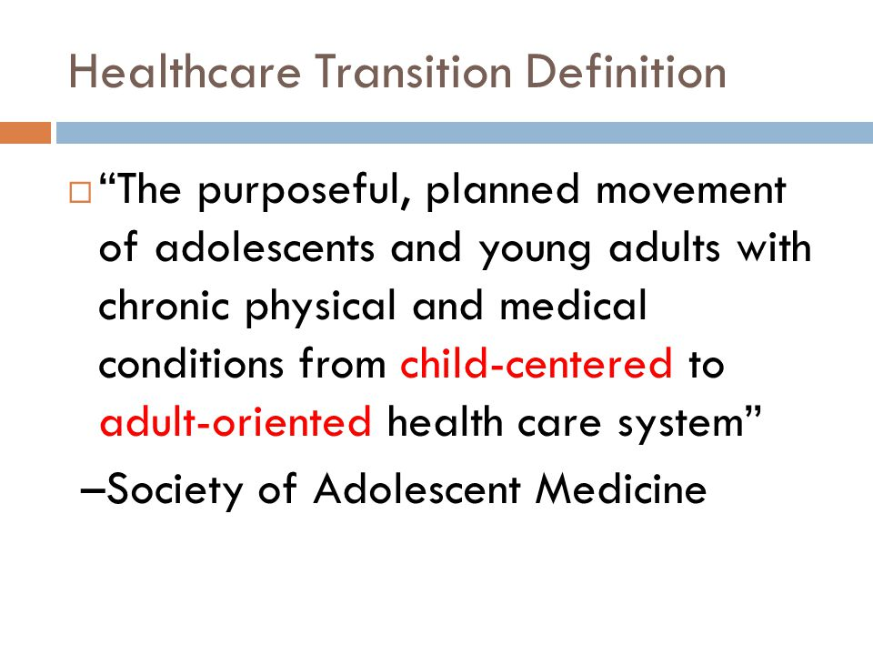 Healthcare Transition Definition