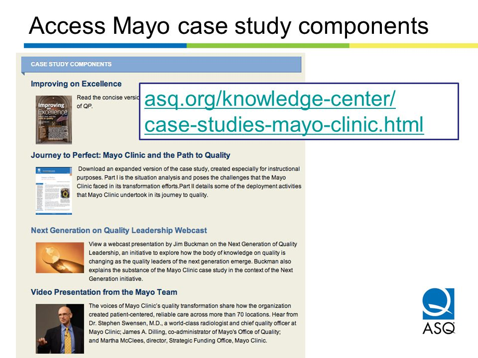 Access Mayo case study components
