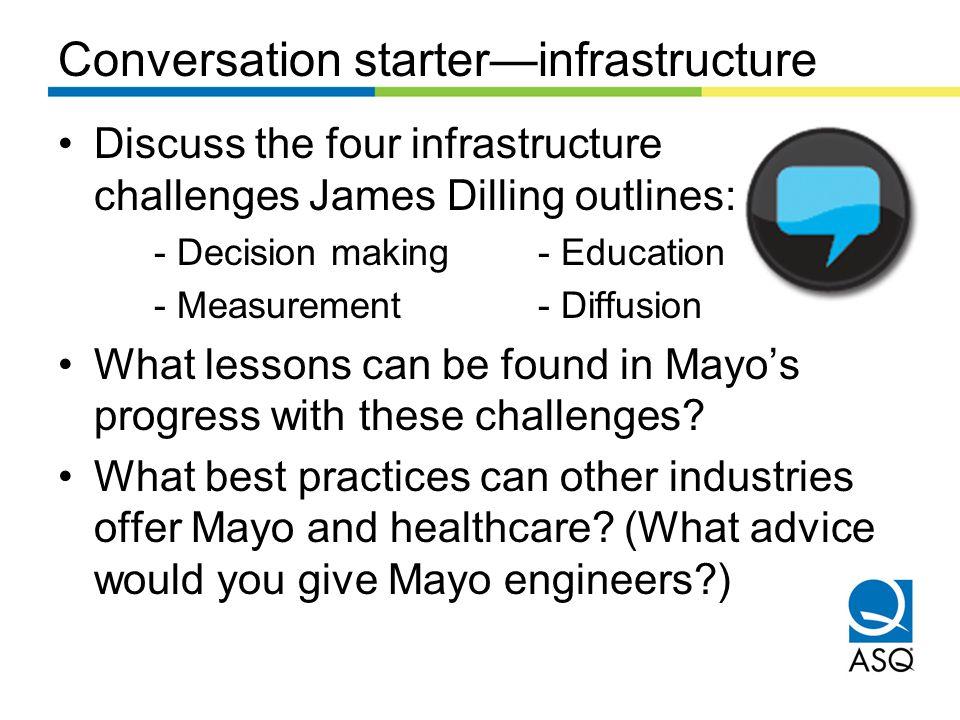 Conversation starter—infrastructure