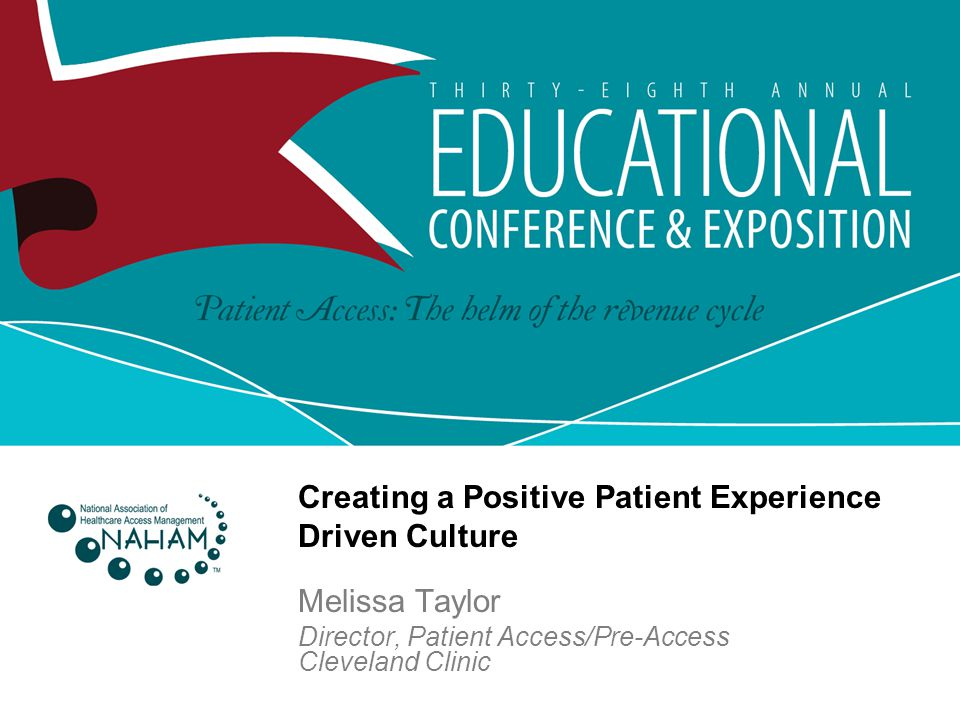 Melissa Taylor Director, Patient Access/Pre-Access Cleveland Clinic