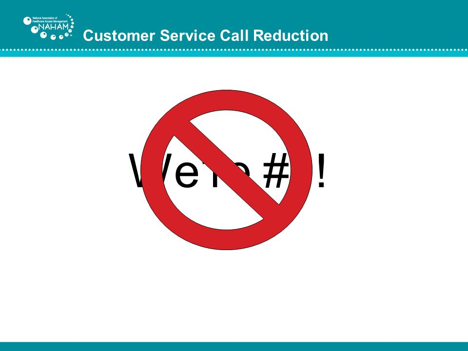 Customer Service Call Reduction