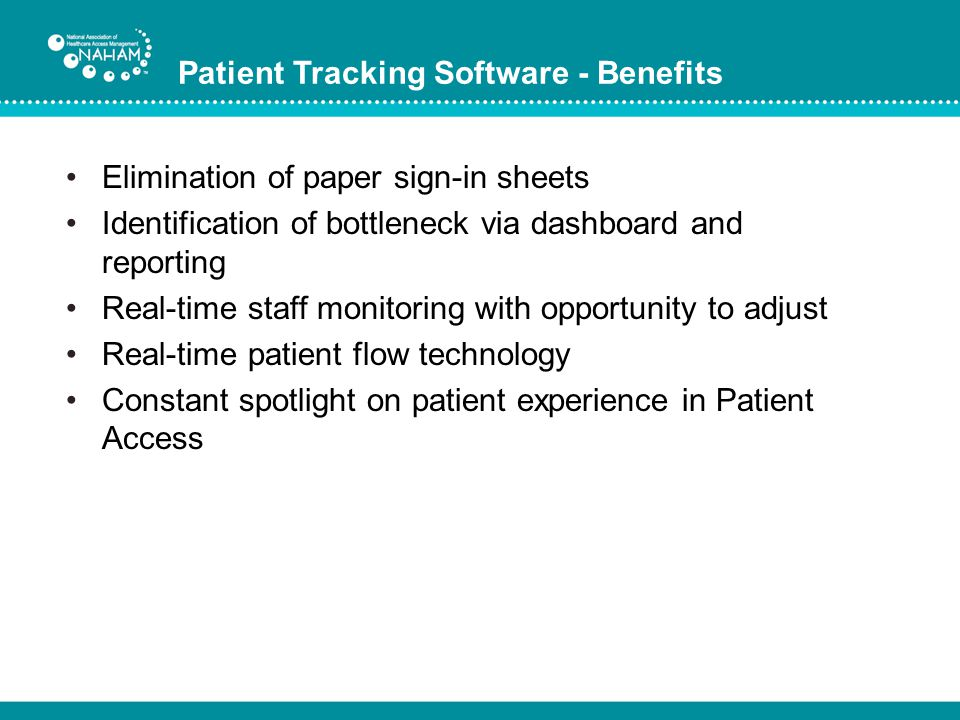 Patient Tracking Software - Benefits