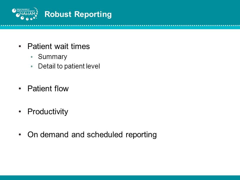 On demand and scheduled reporting