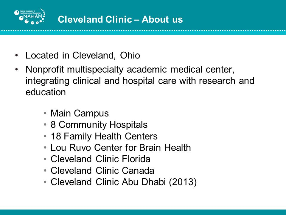 Cleveland Clinic – About us