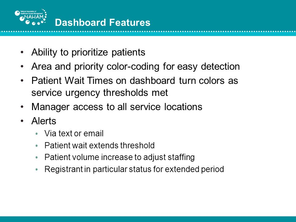 Ability to prioritize patients