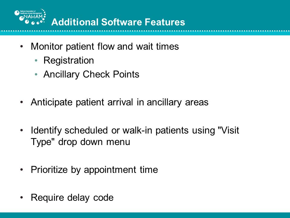 Additional Software Features