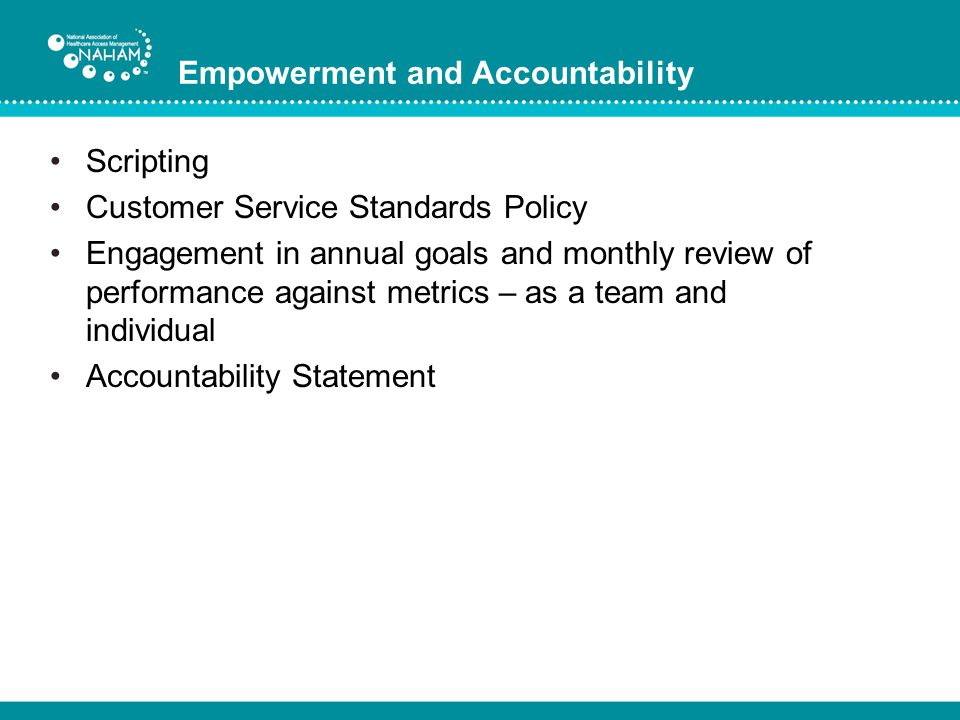 Empowerment and Accountability