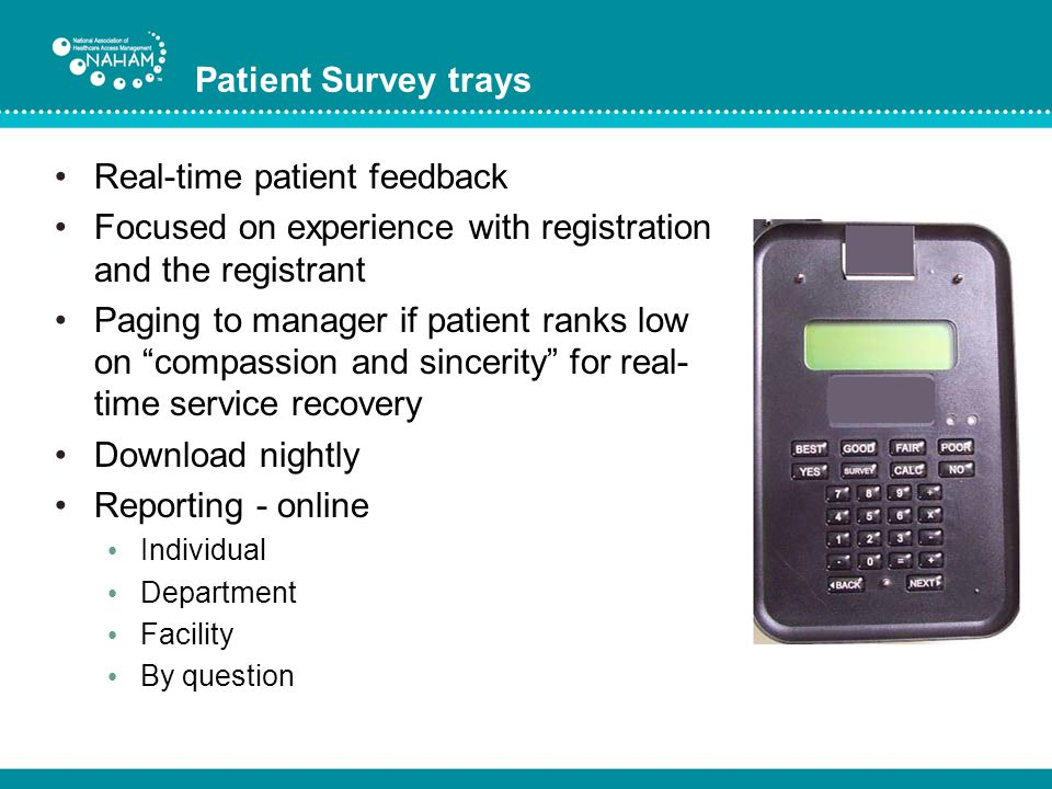 Real-time patient feedback
