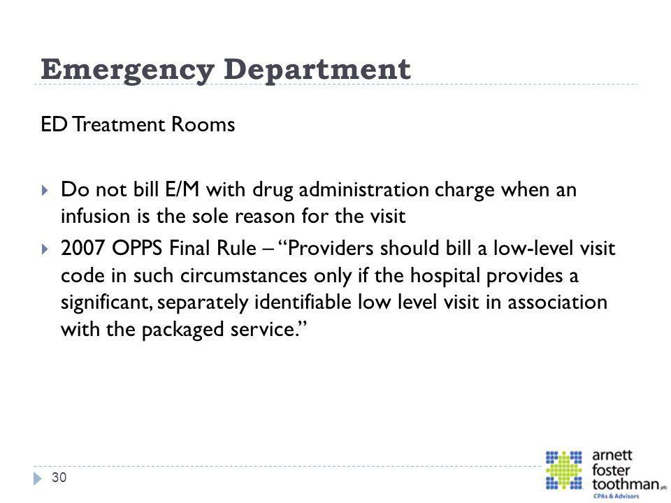 Emergency Department ED Treatment Rooms