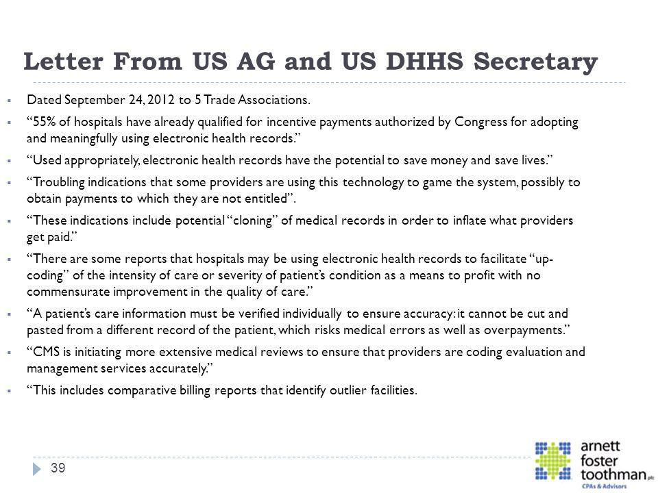 Letter From US AG and US DHHS Secretary
