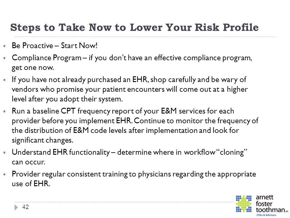 Steps to Take Now to Lower Your Risk Profile