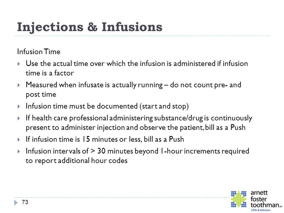 Injections & Infusions