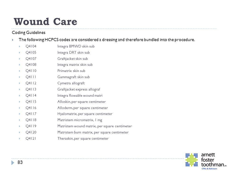 Wound Care Coding Guidelines