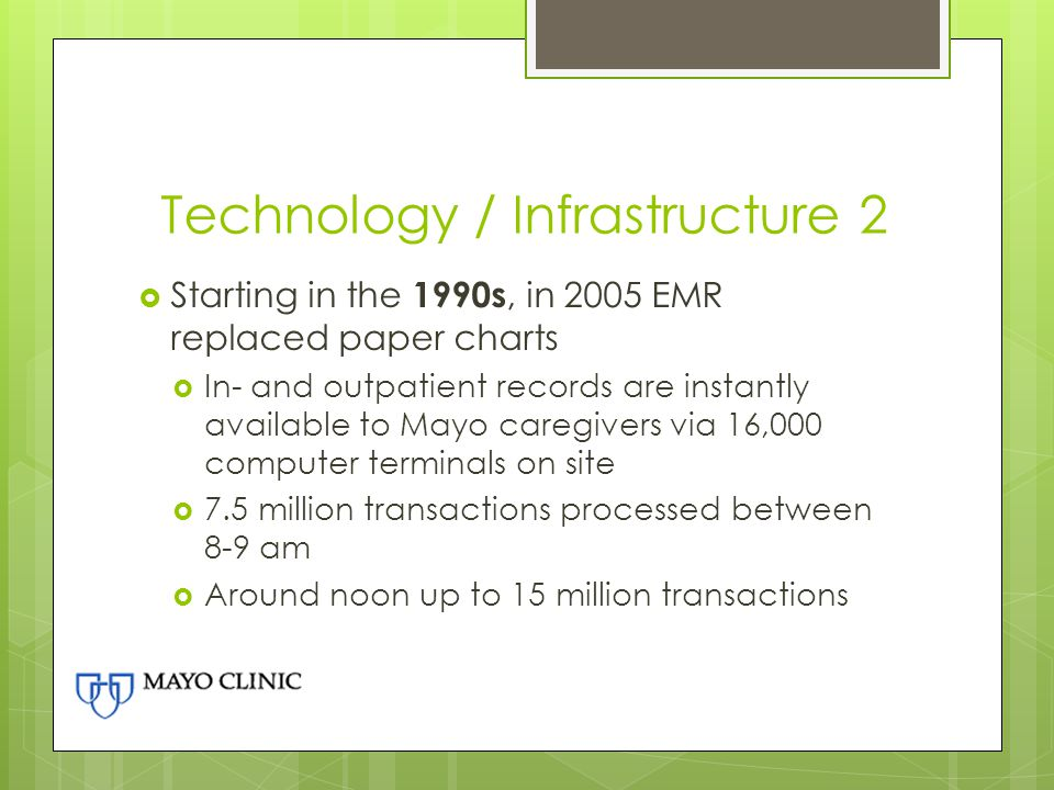Technology / Infrastructure 2