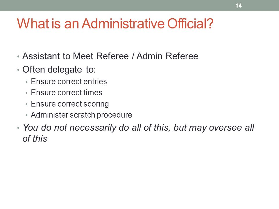 What is an Administrative Official