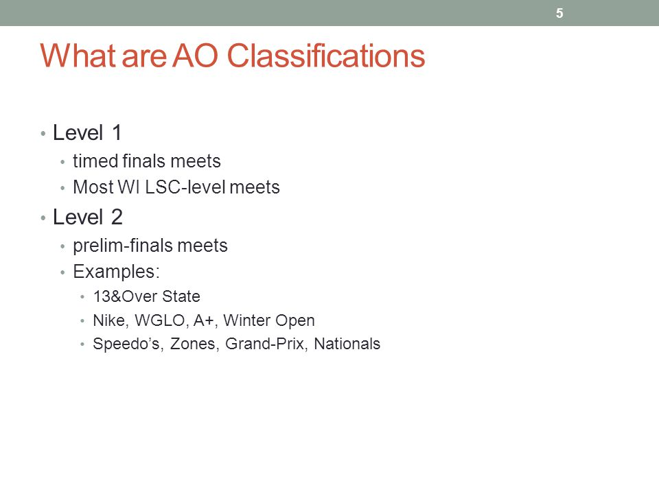 What are AO Classifications