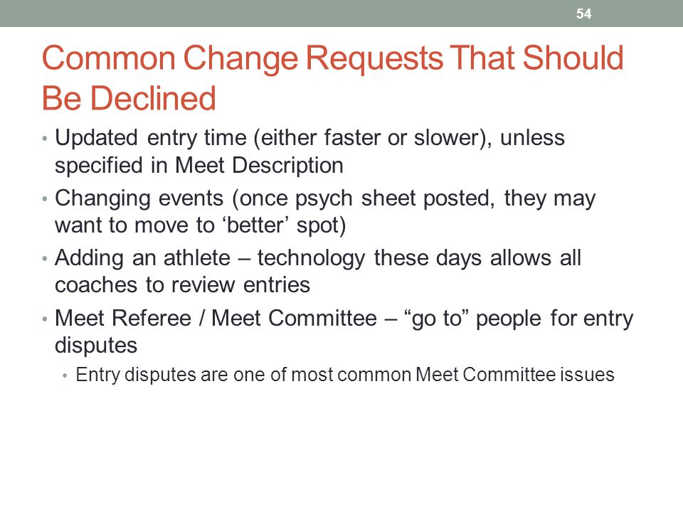 Common Change Requests That Should Be Declined