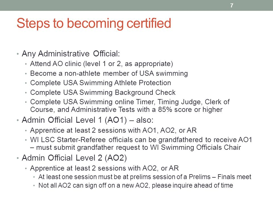 Steps to becoming certified